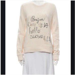 kate spade cream hello sweatshirt sweater L nwt